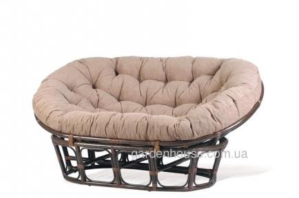Диван Mamasan из натурального ротанга с мягкой подушкой