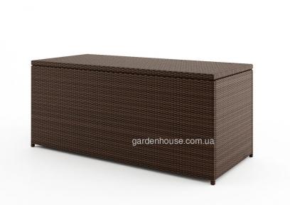 Сундук Scatola Modern из техноротанга 160 см, коричневый