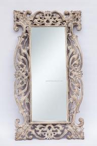 Зеркало Toledo в раме из тика 150х80 см (прованс, античный коричневый)