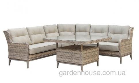 Угловой обеденный набор мебели Style из искусственного ротанга