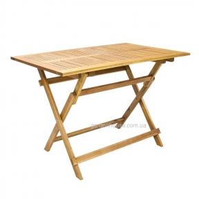 Складной деревянный стол 110x75xH72 см Finlay из массива акации