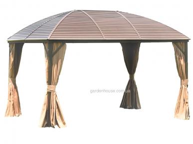 Шатер Sunset с металлической крышей 3х4х2,7 м, коричневый