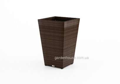 Цветочная ваза Scatola Modern из техноротанга 37х37х60 см, коричневый