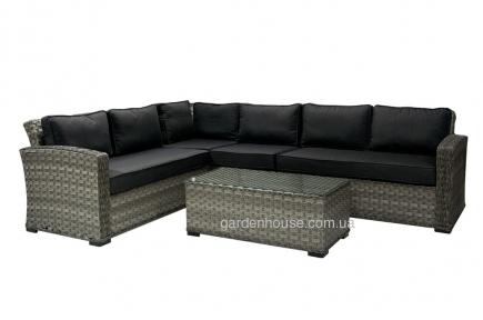 Модульный диванный комплект Geneva из искусственного ротанга, серый