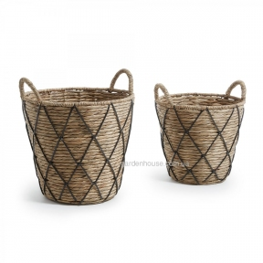 Комплект из 2-х плетеных корзин MAJA