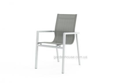 Обеденный стул Alicante из алюминия, с подлокотниками