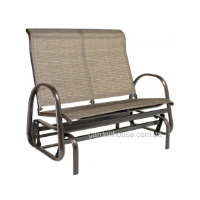 Двухместное садовое кресло-качалка Montreal из алюминия и текстилена