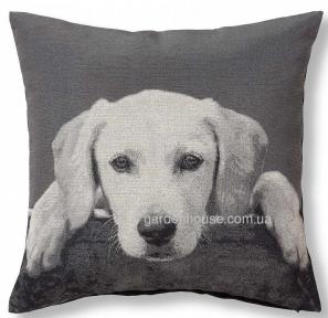 Декоративная подушка Darson с изображением собаки 45x45 см, серый