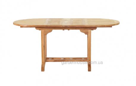 Раскладной садовый стол Butterfly из тика, 160/240 см