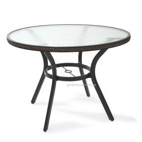 Стол Solar со стеклянной столешницей, темно-коричневый