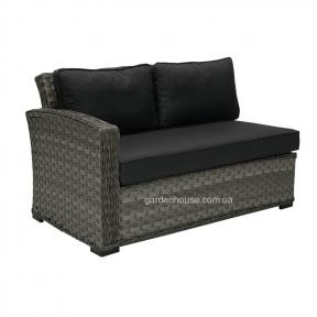 Садовый диван Geneva из искусственного ротанга, левый модуль