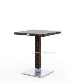 Стол Quadro Modern из техноротанга со стеклом