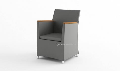 Садовое кресло Merida Stone & Wood c элементами из тика