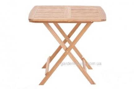 Стол квадратный Rimini из тика, раскладной 80х80 см