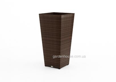 Цветочная ваза Scatola Modern из искусственного ротанга 41х41х80 см, коричневый