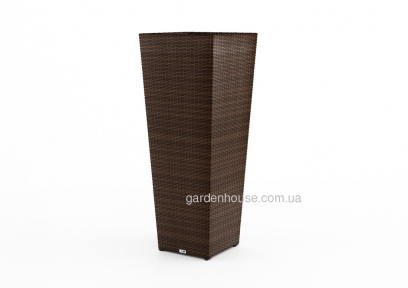 Ваза садовая Scatola Modern из искусственного ротанга 41х41х100 см