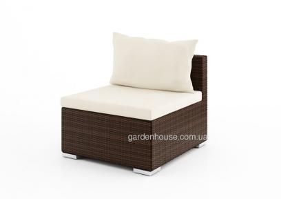 Центральный модуль дивана Venezia Modern из искусственного ротанга