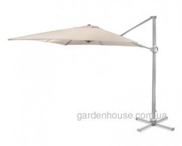 Консольный квадратный зонт Roma 3х3 м, бежевый