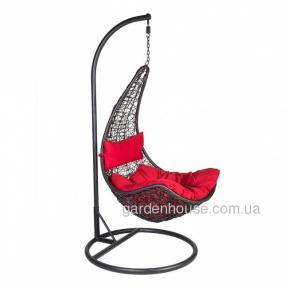 Кресло подвесное Coco из искусственного ротанга, черный
