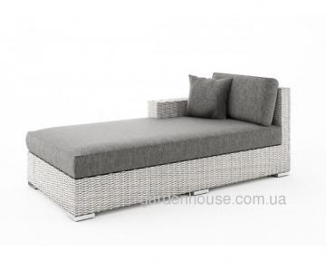 Лежанка из искусственного ротанга, крайний правый модуль мебельной системы Milano Royal