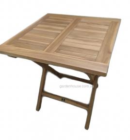 Стол для улицы и террасы Lio из тика 70*70 см, складной