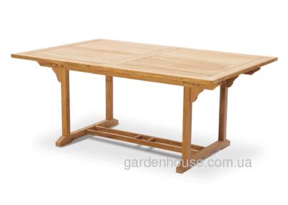 Складной садовый стол Бергамо из тика 180/240*120 см