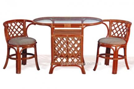 Ротанговый комплект мебели для завтрака