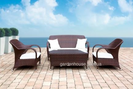 Набор садовой мебели Firienze из искусственного ротанга, коричневый
