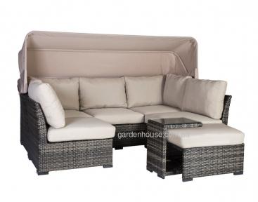 Диванный набор мебели Valora из искусственного ротанга с навесом