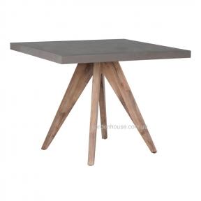 Обеденный стол Sandstone из композитного камня и массива акации 90х90 см