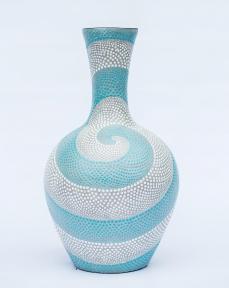 Напольная ваза 60 см, керамика ( голубой, серый, оранжевый)