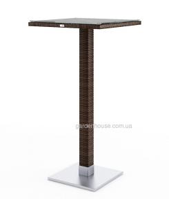 Стол барный Quadro Modern из искусственного ротанга, коричневый