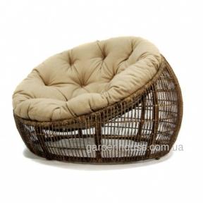 Кресло Funda из абаки с мягкой подушкой