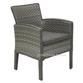 Обеденное кресло Geneva из искусственного ротанга, серый