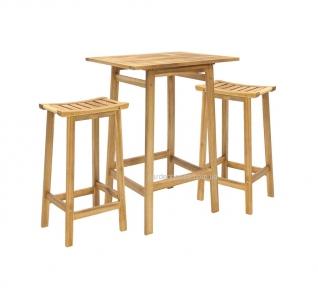 Барный комплект: стол и 2 табурета Finlay из массива акации