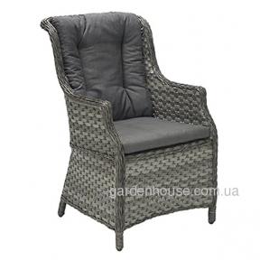 Кресло Geneva из искусственного ротанга с мягкой спинкой