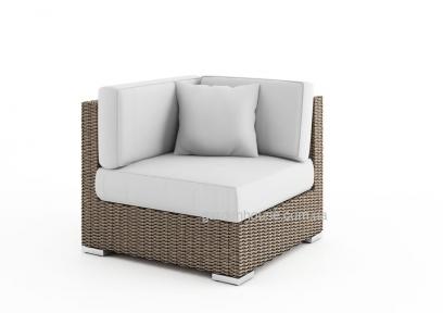 Угловой модуль мебельной системы Milano Royal из искусственного ротанга