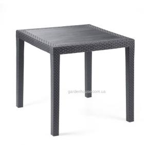 Обеденный стол King из пластика (имитация плетения) 79х79 см