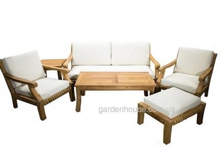 Комплект тиковой мебели для отдыха с трехместным диваном Cruise
