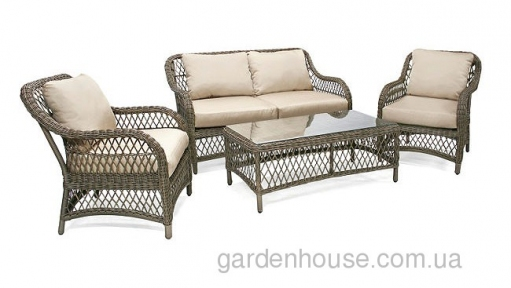Комплект садовой мебели Laurino из искусственного ротанга