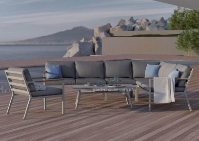 Модульный набор садовой мебели Lugo Stone & Wood c элементами из тика