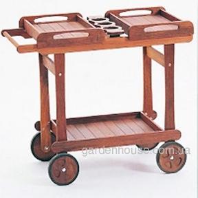 Сервировочный столик Deluxe из массива мербау