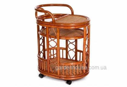 Сервировочный столик из натурального ротанга