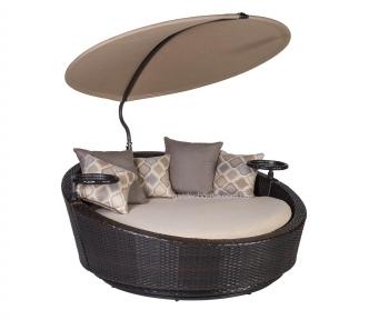 Садовый диван из искусственного ротанга Stella с навесом