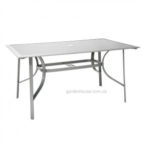 Садовый обеденный стол Denver из алюминия со стеклом