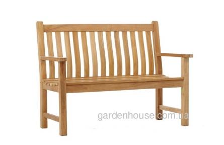 Садовая скамейка из тика Turin, 2-х местная