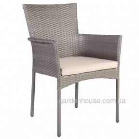 Обеденный стул Hampton из техноротанга, серый
