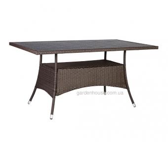 Прямоугольный садовый стол Savanna из искусственного ротанга
