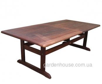 Деревянный раскладной стол для сада Matilda из мербау 230/290 см