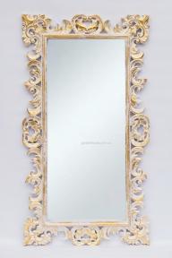 Зеркало Ajur в деревянной оправе, прованс в золоте 145х80 см
